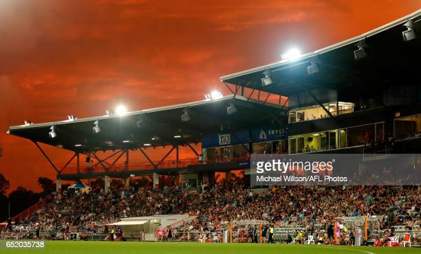 A general view during the 2017 AFLW Round 06 match between the Adelaide Crows and the Melbourne Demons at TIO Stadium on March 11 2017 in Darwin...