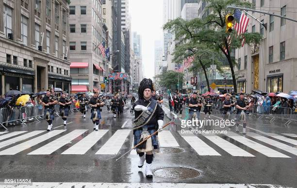 A general view during the 2017 Columbus Day Parade on October 9 2017 in New York City