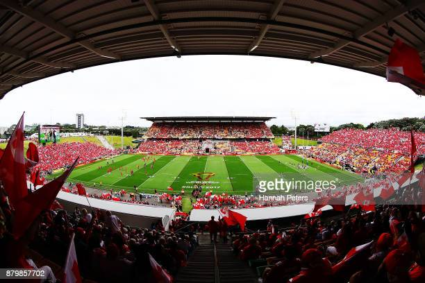 A general view during the 2017 Rugby League World Cup Semi Final match between Tonga and England at Mt Smart Stadium on November 25 2017 in Auckland...
