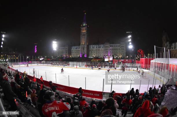 General view during the 2017 Scotiabank NHL100 Classic Ottawa Senators Alumni Game on Parliament Hill on December 15 2017 in Ottawa Canada