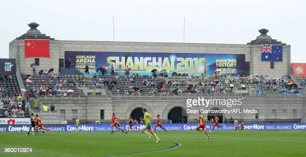 A general view during the 2018 AFL round nine match between the Gold Coast Suns and the Port Adelaide Power at Adelaide Arena at Jiangwan Sports...