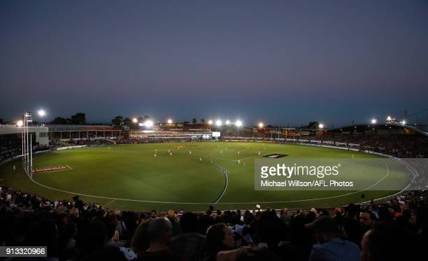 A general view during the 2018 AFLW Round 01 match between the Carlton Blues and the Collingwood Magpies at Ikon Park on February 2 2018 in Melbourne...