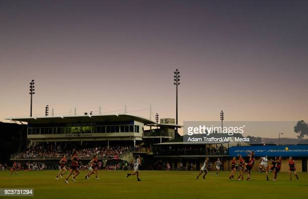 A general view during the 2018 AFLW Round 04 match between the Melbourne Demons and the Collingwood Magpies at TIO Traeger Park on February 24 2018...