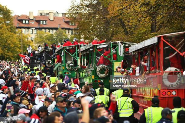 A general view during the 2018 Boston Red Sox World Series victory parade on October 31 2018 in Boston Massachusetts