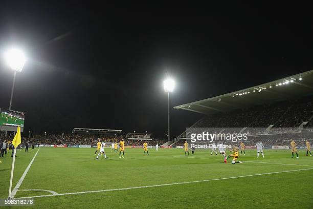 A general view during the 2018 FIFA World Cup Qualifier match between the Australian Socceroos and Iraq at nib Stadium on September 1 2016 in Perth...
