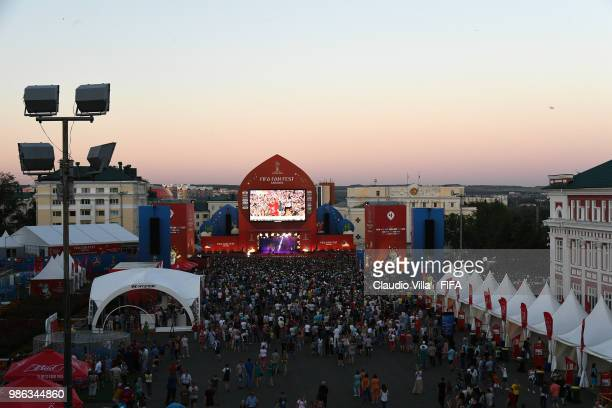 A general view during the 2018 FIFA World Cup Russia group A match between Panama and Tunisia at Mordovia Arena on June 28 2018 in Saransk Russia