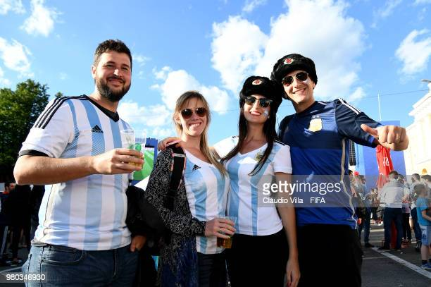 A general view during the 2018 FIFA World Cup Russia group D match between Argentina and Croatia at Nizhniy Novgorod Stadium on June 21 2018 in...