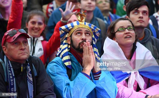 A general view during the 2018 FIFA World Cup Russia group A match between Russia and Saudi Arabia at Saint Petersburg Stadium on June 19 2018 in...