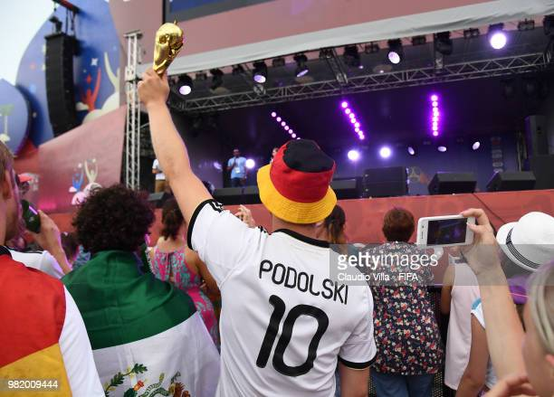 A general view during the 2018 FIFA World Cup Russia group F match between Germany and Sweden at Fisht Stadium on June 23 2018 in Sochi Russia