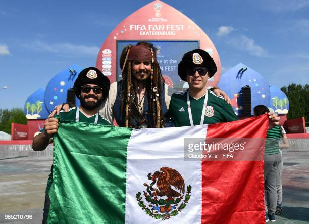 A general view during the 2018 FIFA World Cup Russia group F match between Mexico and Sweden at Ekaterinburg Arena on June 27 2018 in Yekaterinburg...