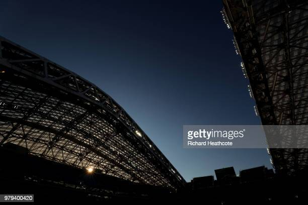 A general view during the 2018 FIFA World Cup Russia group G match between Belgium and Panama at Fisht Stadium on June 18 2018 in Sochi Russia