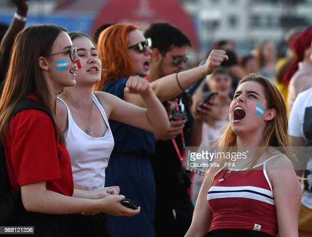 A general view during the 2018 FIFA World Cup Russia round of 16 match between France and Argentina at Kazan Arena on June 30 2018 in Kazan Russia