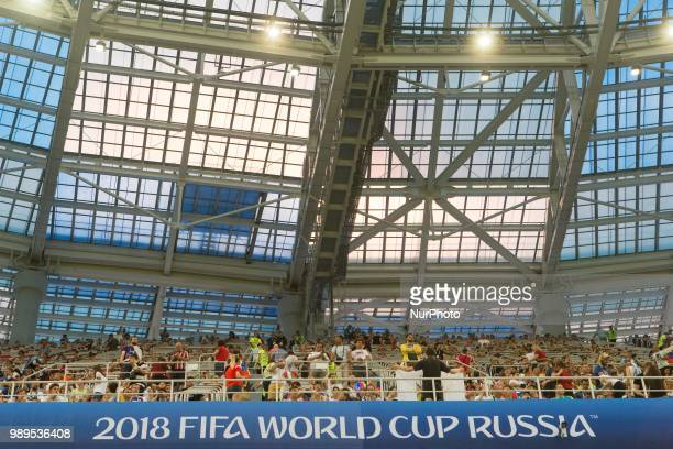 General view during the 2018 FIFA World Cup Russia Round of 16 match between Croatia and Denmark at Nizhny Novgorod Stadium on July 1 2018 in Nizhny...