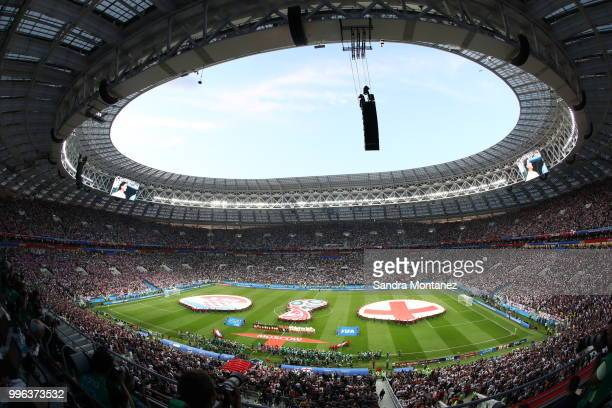 General view during the 2018 FIFA World Cup Russia Semi Final match between England and Croatia at Luzhniki Stadium on July 11 2018 in Moscow Russia