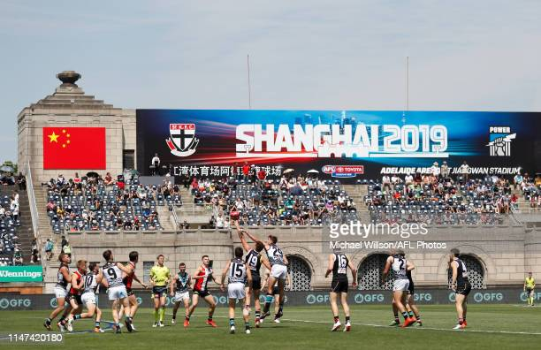 General view during the 2019 AFL round 11 match between the St Kilda Saints and the Port Adelaide Power at Adelaide Arena at Jiangwan Stadium on June...