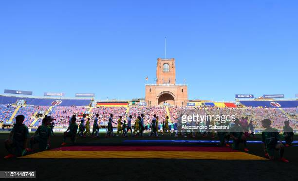 General view during the 2019 UEFA U-21 Semi-Final match between Germany and Romania at Stadio Renato Dall'Ara on June 27, 2019 in Bologna, Italy.