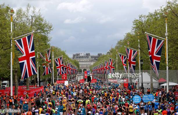 A general view during the 2019 Virgin Money London Marathon in the United Kingdom on April 28 2019 in London England