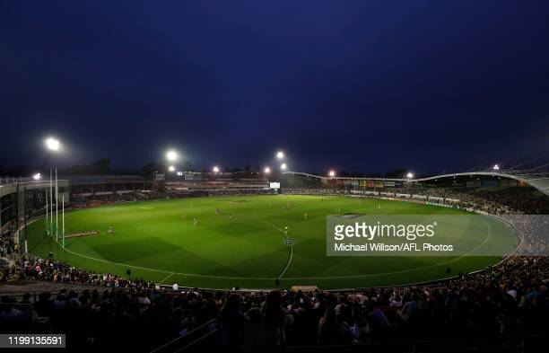 A general view during the 2020 AFLW Round 01 match between the Richmond Tigers and the Carlton Blues at Ikon Park on February 7 2020 in Melbourne...