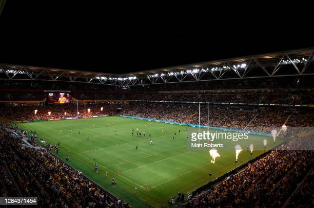 General view during the 2020 Tri-Nations match between the Australian Wallabies and the New Zealand All Blacks at Suncorp Stadium on November 07,...