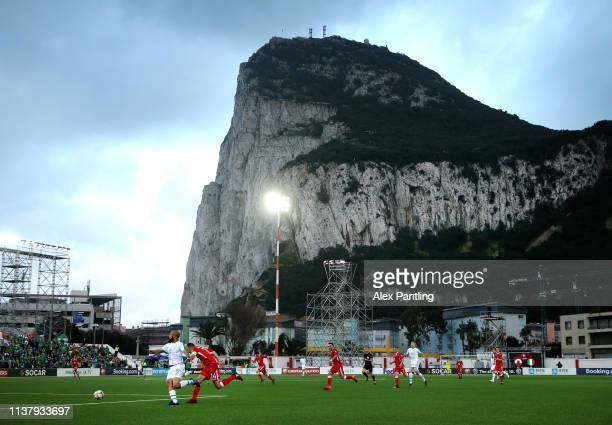 General view during the 2020 UEFA European Championships group D qualifying match between Gibraltar and Republic of Ireland at Victoria Stadium on...