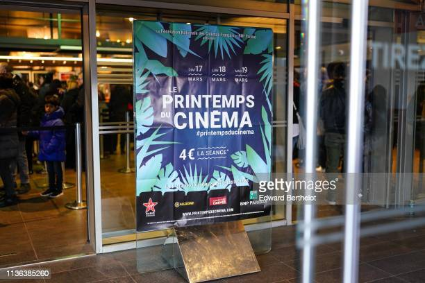 General view during the 20th 'Le Printemps Du Cinema' Photocall At UGC Cine Cite Bercy on March 17 2019 in Paris France