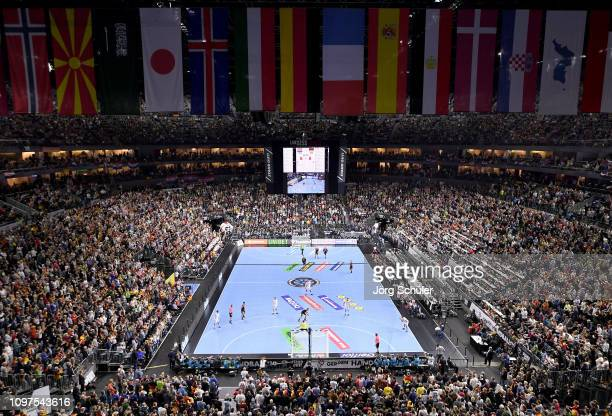 A general view during the 26th IHF Men's World Championship group 1 match between Croatia and Germany at Lanxess Arena on January 21 2019 in Cologne...