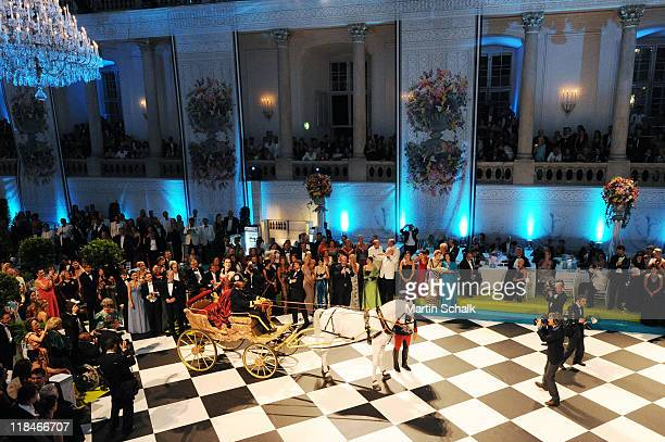 A general view during the 2nd Fete Imperial as a benefit event for the famous Spanish Riding School horses at imperial Vienna Hofburg Palace on July...