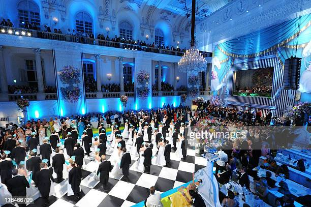 A general view during the 2nd Fete Imperial as a benefit event for the famous Spanish Riding School at imperial Vienna Hofburg Palace on July 7 2011...