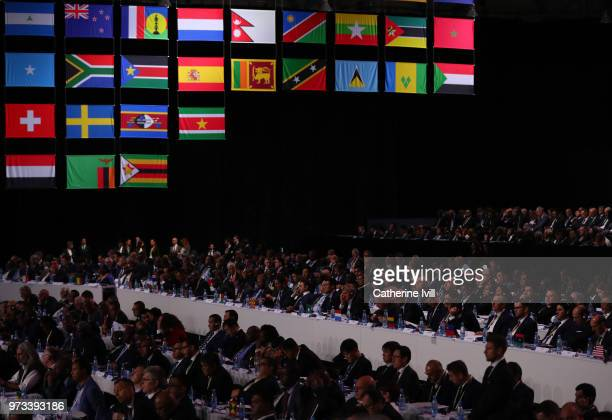 General view during the 68th FIFA Congress on June 13 2018 in Moscow Russia