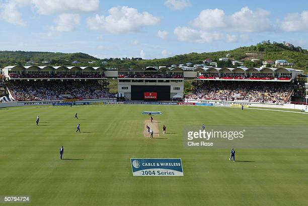 A general view during the 6th One Day International at the Beausejour cricket ground on May 2 in Castries StLucia