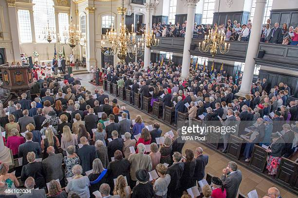 A general view during the 70th Anniversary commemorations of VJ Day at St MartinintheFields Church on August 15 2015 in London England The event...