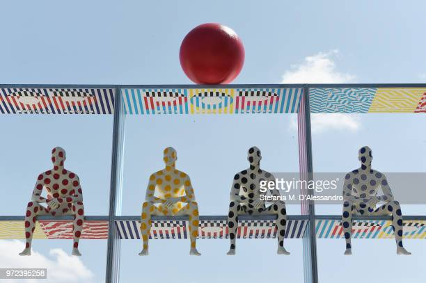 A general view during the 94th Pitti Immagine Uomo at Fortezza Da Basso on June 12 2018 in Florence Italy
