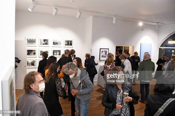 """General view during the """"AENO Malerei und Fotografie - Anne Dohrenkamp and André Kowalski"""" exhibition opening at Hotel Mond Fine Arts on September..."""