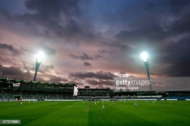 A general view during the AFL Practice Match between the Geelong Cats and the North Melbourne Kangaroos at Simonds Stadium on March 7 2014 in Geelong...