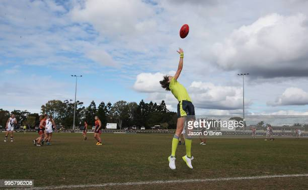 General view during the AFLW U18 Championships match between Vic Country and Central Allies at Broadbeach Sports Club on July 11 2018 in Gold Coast...