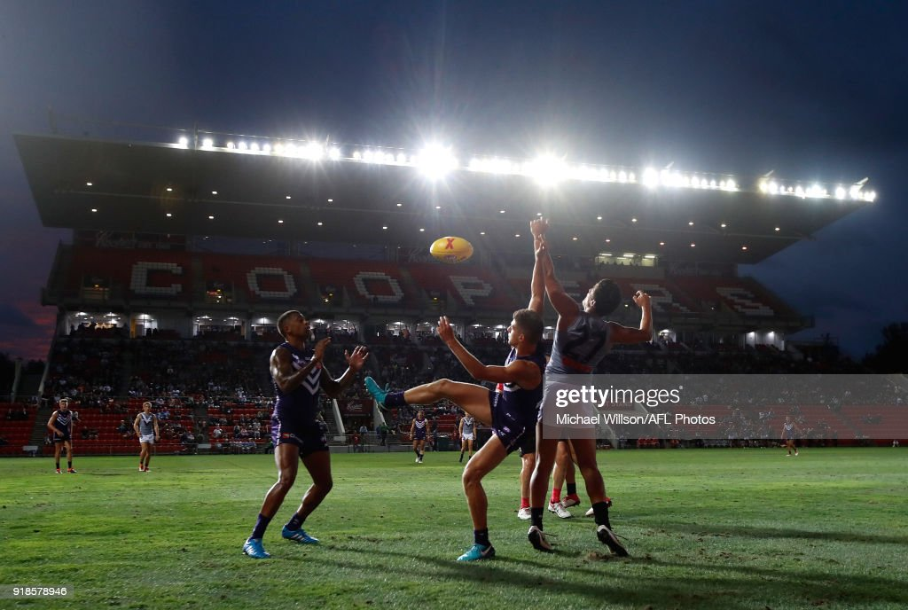 A general view during the AFLX match between the Port Adelaide Power and the Fremantle Dockers at Hindmarsh Stadium on February 15, 2018 in Adelaide, Australia.