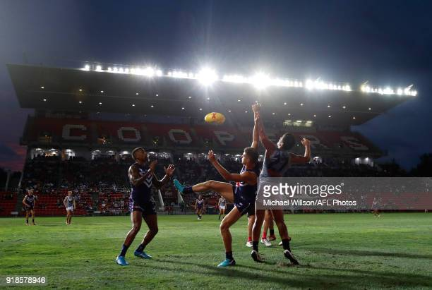 A general view during the AFLX match between the Port Adelaide Power and the Fremantle Dockers at Hindmarsh Stadium on February 15 2018 in Adelaide...