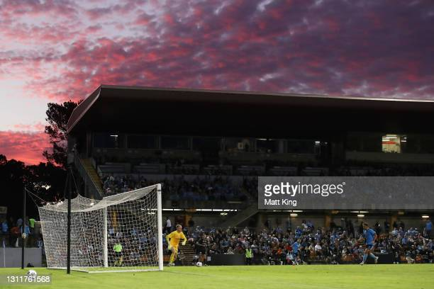 General view during the A-League match between Sydney FC and Melbourne City FC at Leichhardt Oval, on April 10 in Sydney, Australia.