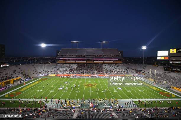 General view during the Alliance of American Football game between the Arizona Hotshots and the Salt Lake Stallions at Sun Devil Stadium on February...