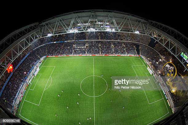 General view during the Allsvenskan match between Djurgardens IF and AIK at Tele2 Arena on September 21 2016 in Stockholm Sweden