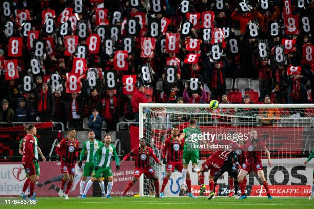 General view during the Allsvenskan match between Ostersunds FK and Hammarby IF at Jamtkraft Arena on October 27, 2019 in Ostersund, Sweden.
