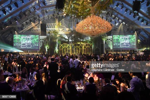 General view during the amfAR Gala Cannes 2018 at Hotel du CapEdenRoc on May 17 2018 in Cap d'Antibes France