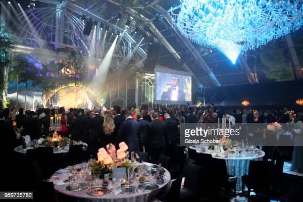 A general view during the amfAR Gala Cannes 2018 dinner at Hotel du CapEdenRoc on May 17 2018 in Cap d'Antibes France