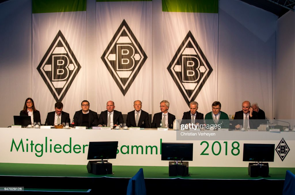 A general view during the Annual Meeting of Borussia Moenchengladbach at Borussia-Park on April 16, 2018 in Moenchengladbach, Germany.