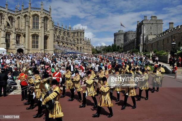 A general view during the annual Order of the Garter Service at St George's Chapel Windsor Castle on June 18 2011 in Windsor England The Order of the...