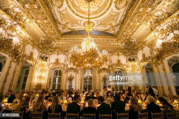 A general view during the Aquazzura x Mytheresacom dinner at Palais Liechtenstein on November 18 2017 in Vienna Austria