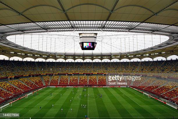 General view during the Atletico Madrid training session ahead of the UEFA Europa League Final between Atletico Madrid and Athletic Bilbao at the...