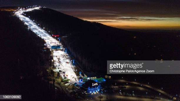 General view during the Audi FIS Alpine Ski World Cup Men's Slalom on November 18, 2018 in Levi Finland.