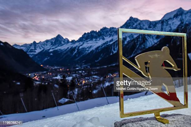 General view during the Audi FIS Alpine Ski World Cup Men's Slalom on February 8, 2020 in Chamonix France.