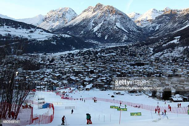 A general view during the Audi FIS Alpine Ski World Cup Men's Slalom on January 06 2014 in Bormio Italy